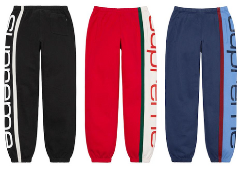 SPECIAL SUPREME BIG LOGO PANELED SWEATPANT (2020FW)