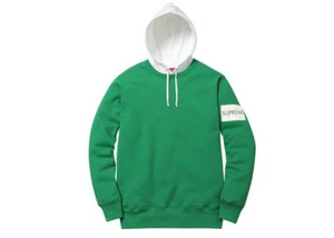 SUPREME 2 TONE HOODED CREWNECK SWEATSHRIT
