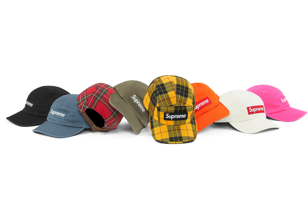SUPREME WASHED CHINO TWILL CAMP CAP (2020FW)