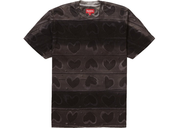 SUPREME HEARTS DYED SS TOP