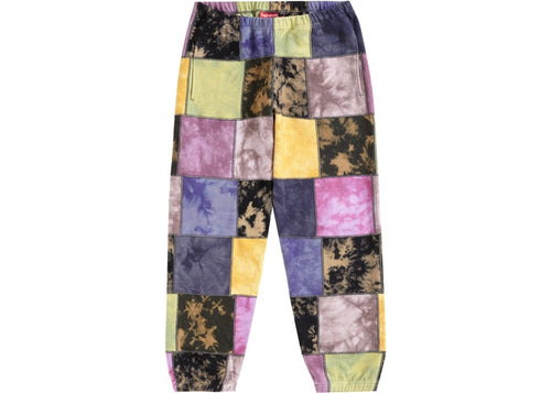 SUPREME PATCHWORK TIE DYE SWEATPANTS