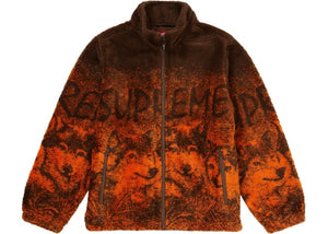 SUPREME WOLF FLEECE JACKET