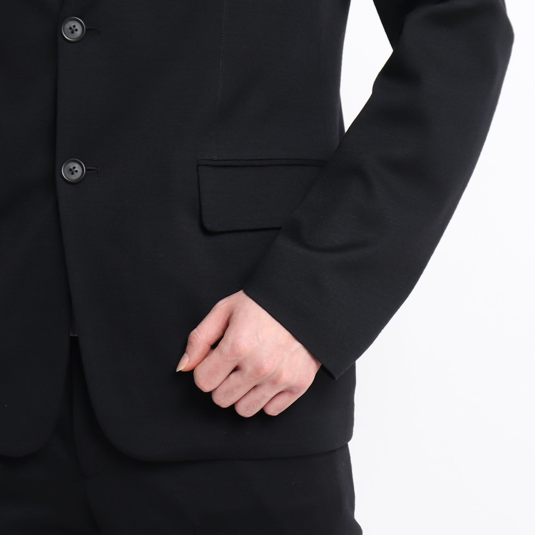 Wool Mobile Jacket <br>Col. Black