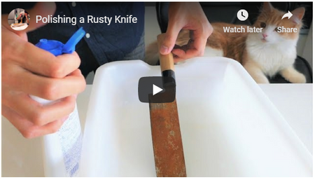How To Polish A Rusty Chef Knife