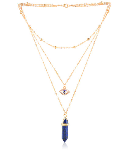 Blue Bullet Necklace
