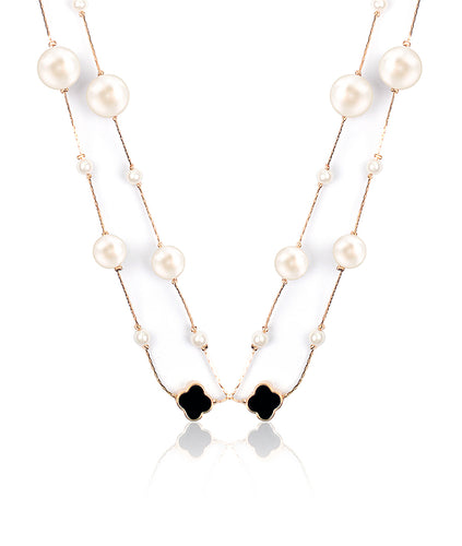 Tissel Pearl Necklace