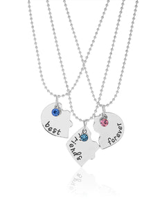 THREE IS COMPANY BFF NECKLACE