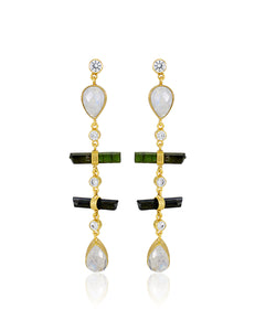 ESTELLA RAINBOW EARRING - DARK GREEN