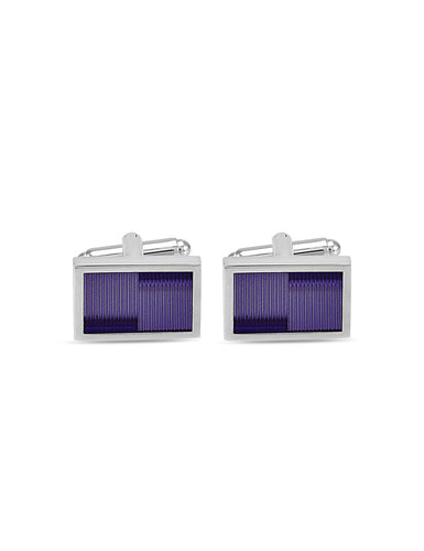 PURPLE WAVE CUFFLINKS