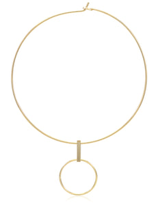 CIRCULO TANGLED CIRCLES NECKLACE