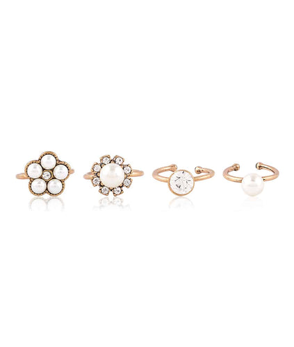Pear Pearl Ring Set