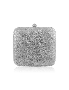 SOFIA SILVER SEQUIN CLUTCH BAG