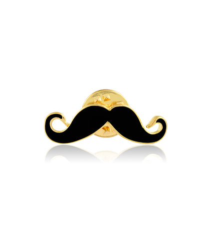 Double Moustache Brooch