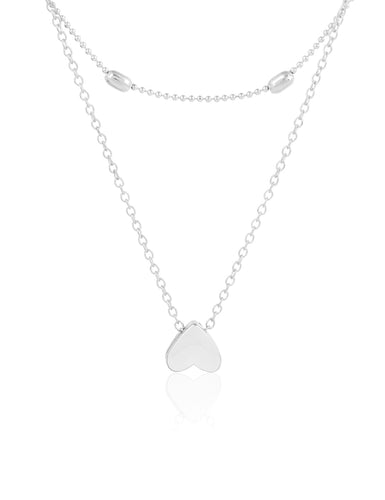 Heartista Chain Necklace Silver