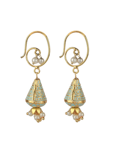MYRAH EARRINGS - TEAL