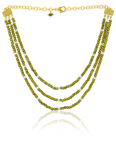 GREEN MATICO NECKLACE