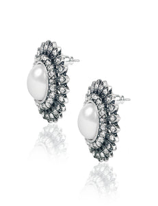 ADRIANA SILVER STUD EARRINGS