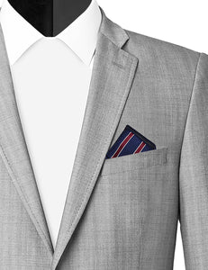 NAVY POOL POCKET SQUARE