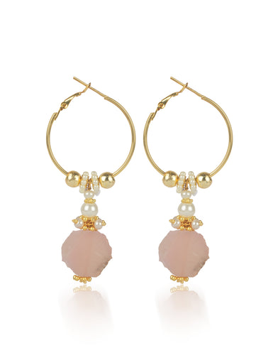 RAIZA ROSE QUARTZ EARRINGS