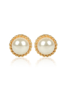 ARIANA PEARLY STUD EARRINGS - GOLD
