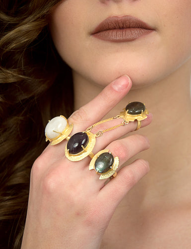 HELENA THREE FINGER STATEMENT RING