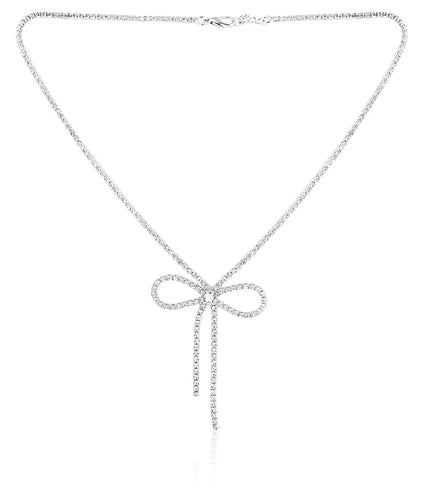 Bling Bow Necklace