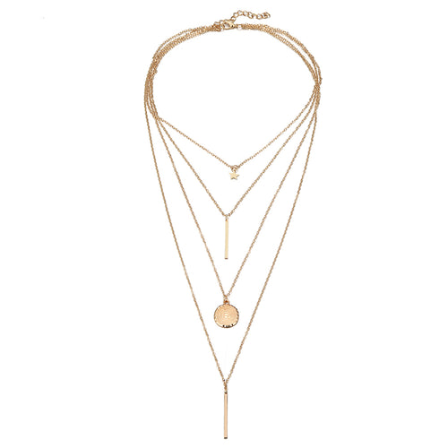 Star Layered Chain Necklace