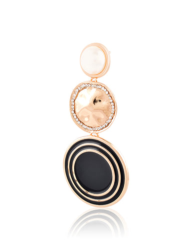 Circulo Roma Earrings Black