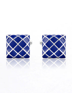 Blue Net Cufflinks