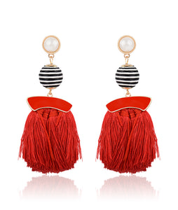 Planet Tassel Earrings
