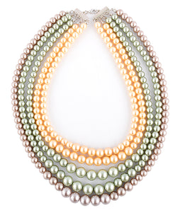 Three Storey Pearl Necklace