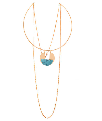 Circulo Drop that Stone Layered Necklace