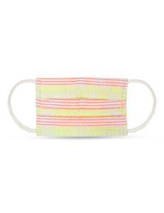 Reusable Face Mask - Pink and Green Lining Mask 1 Pc