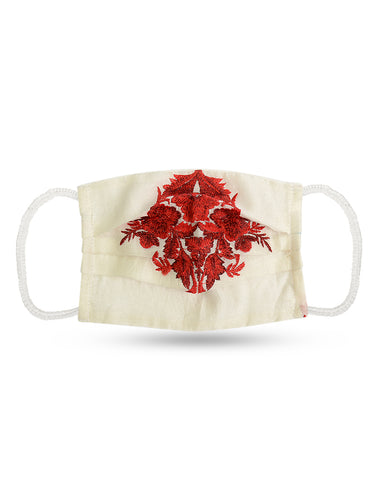 Reusable Face Mask - Red Flower Mask 1 Pc