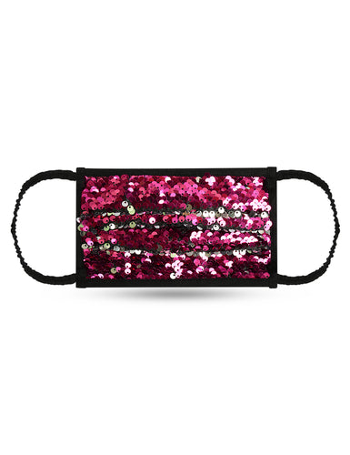 Reusable Face Mask - Pink Sequin Mask 1 Pc
