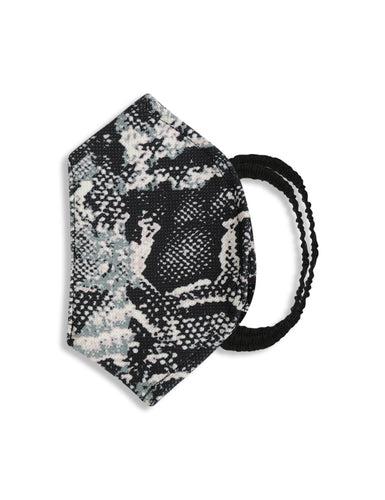 Reusable Face Mask - Black Abstract Print Mask 1 Pc