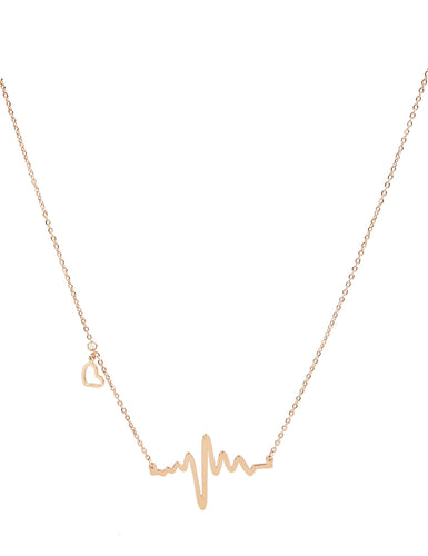 HEART BEAT CHAIN - ROSE GOLD