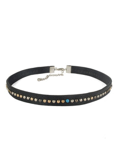 BOHEMIAN LEATHER CHOKER WITH STUDS