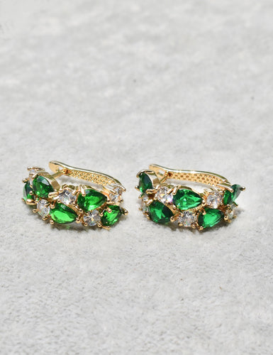 Izra Earrings (emerald)