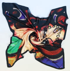 Bliss Mermaid Satin Silk Scarf