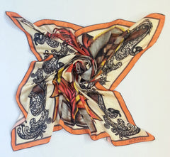 Intricately Game Satin Silk Scarf