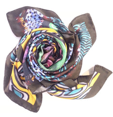 Indonesia Mask Satin Silk Scarf