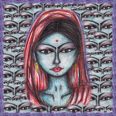 Bliss Indian Lady Satin Silk Scarf