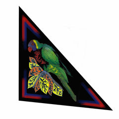 Parrot Silk Triangle Double Layer Scarf