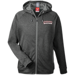 Barnwood Sports Design WM Logo Men's Heathered Performance Hooded Jacket