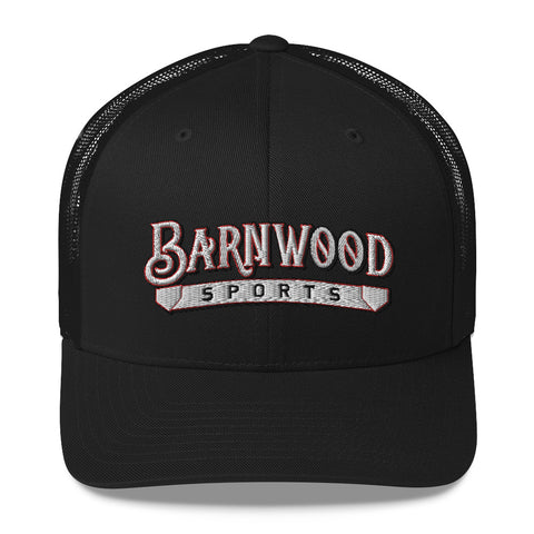 Barnwood Sports Design Classic Logo Embroidered Trucker Cap