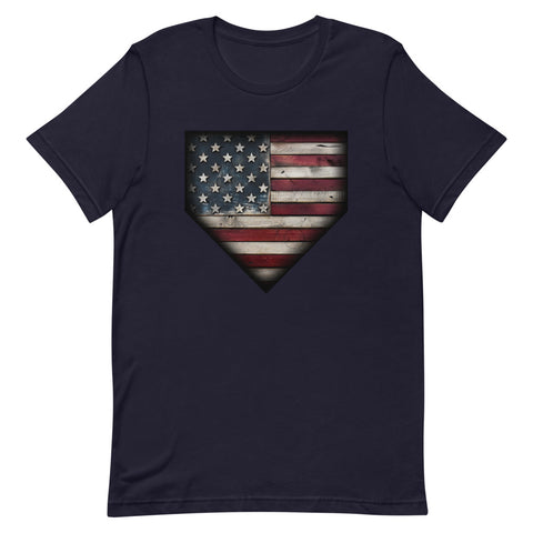 Barnwood Sports Design Americana Plate Short-Sleeve Unisex T-Shirt