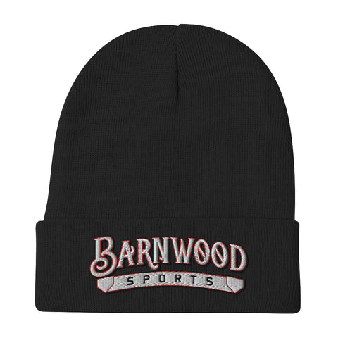 Barnwood Sports Design Embroidered Beanie