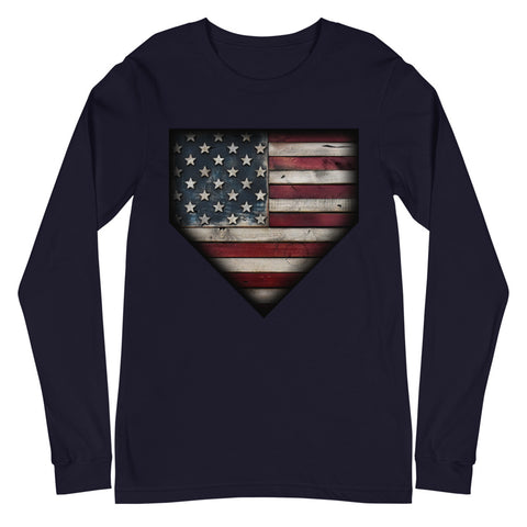 Barnwood Sports Design CLassic Americana Long Sleeve Tee
