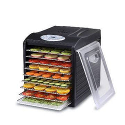 "Samson ""Silent"" 9 Stainless Steel Tray Dehydrator with Digital Controls"